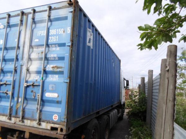 Перевозка контейнера к погрузке на платформу