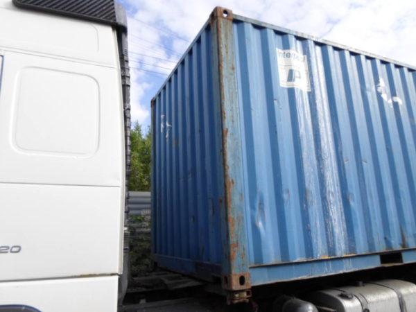 Вид контейнера слева