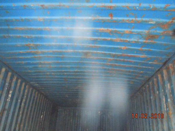 Внутренний вид б/у контейнера