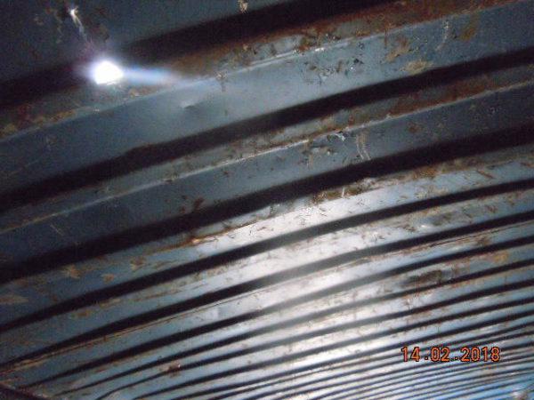 Потолок контейнера
