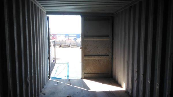 Вид контейнера 20 фут внутри