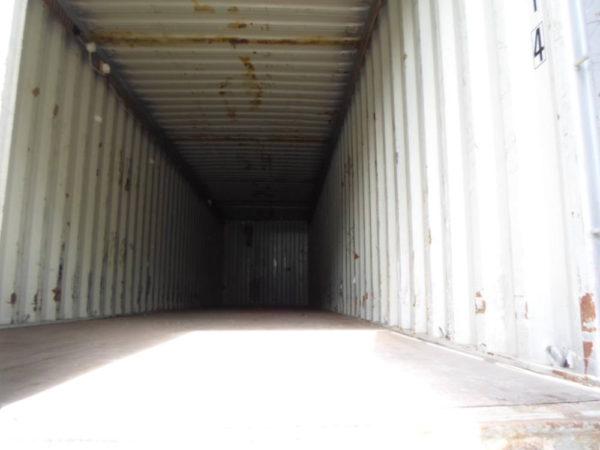 Вид изнутри контейнера 40 фут