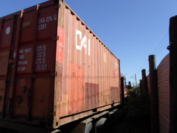 Разгрузка контейнера