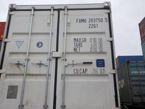 новый 20 футовый белый контейнер